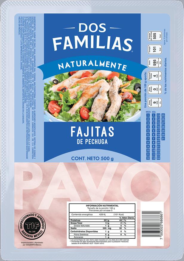 Fajitas de Pavo Dos Famiias